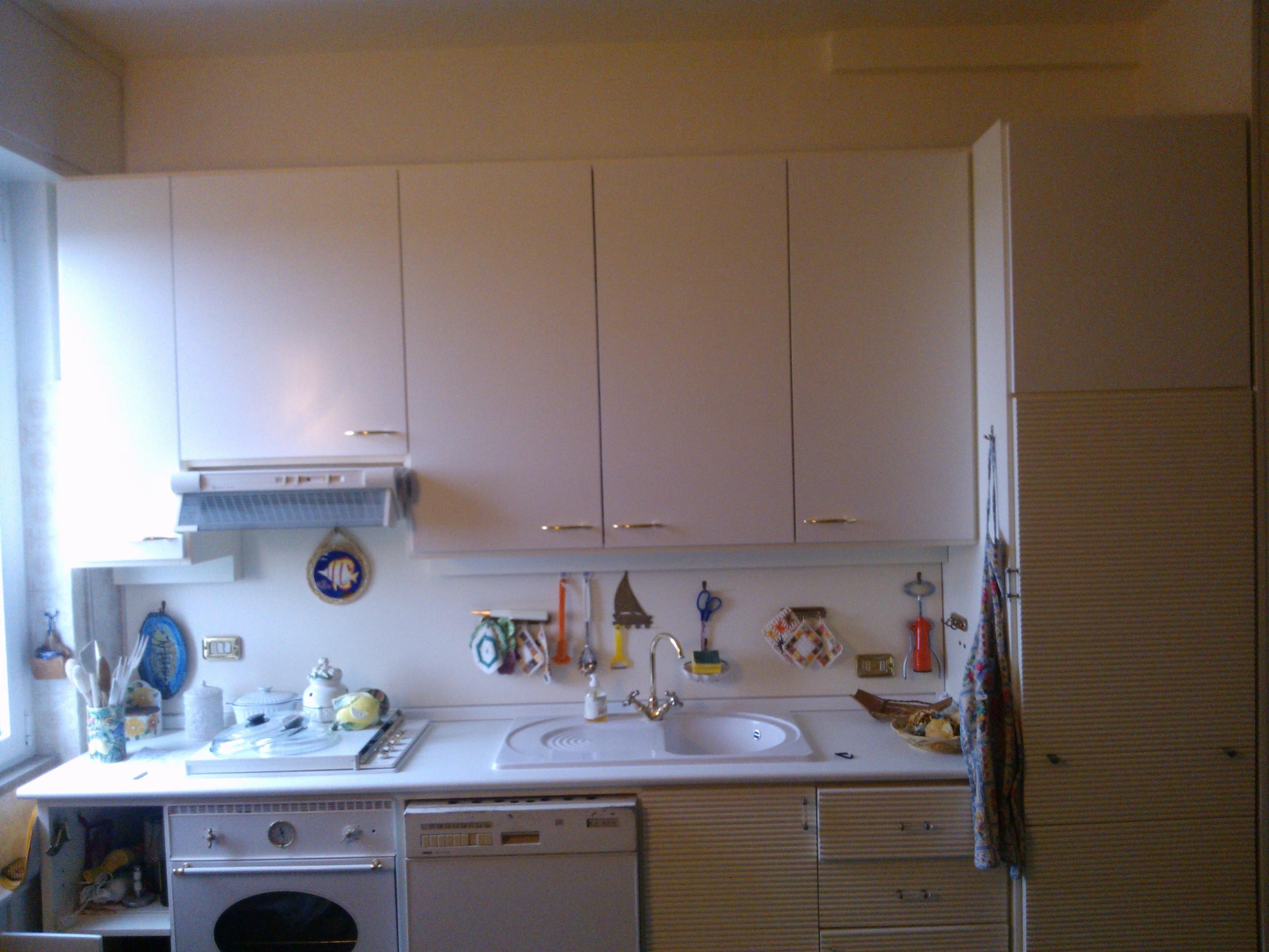 18mm Laccato Bianco ;ad Pensile Cucina.sostituzione Top Con Alzatina #2F5C9C 2592 1944 Piano Di Lavoro Cucina Brico