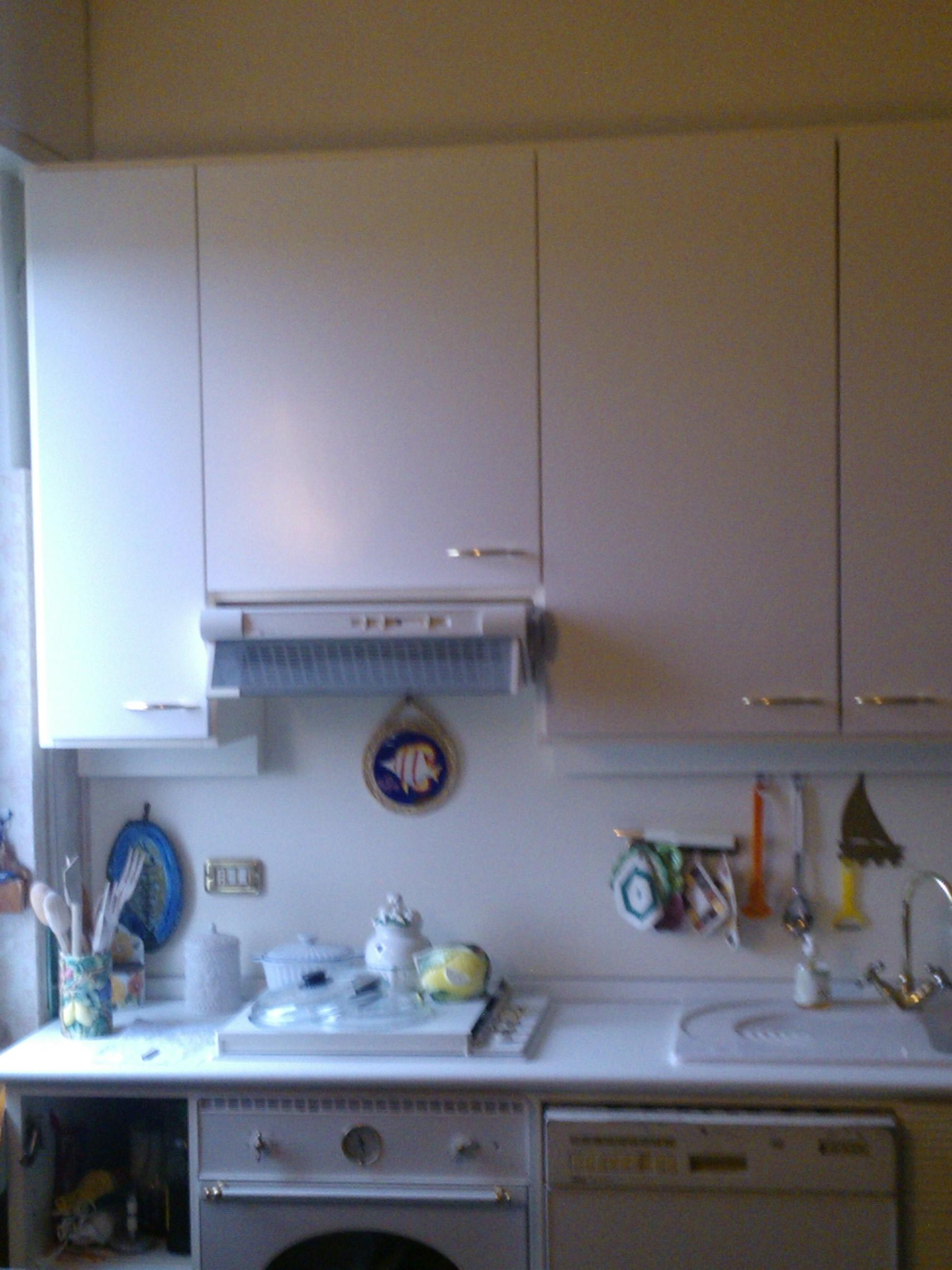 18mm Laccato Bianco ;ad Pensile Cucina.sostituzione Top Con Alzatina #2A5EA1 1944 2592 Piano Di Lavoro Cucina Brico